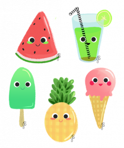 Summer Things on Behance by Artofjess | Illustration | fruits ...
