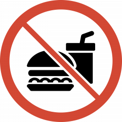 No Food Or Drink Clipart (50+)