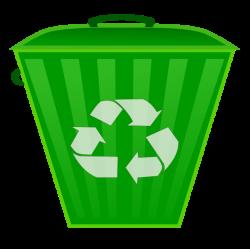 Recycling Symbol On Bin Clipart