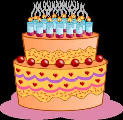Happy birthday cakes clip art