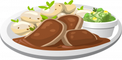 28+ Collection of Dinner Plate With Food Clipart | High quality ...