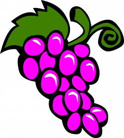 Public Domain Clip Art Image | Illustration of a bunch of grapes ...