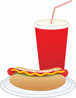 Hot Dog and Soft Drink - Free Clip Art