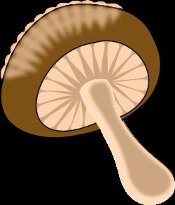 Clipart - Green - orange mushroom