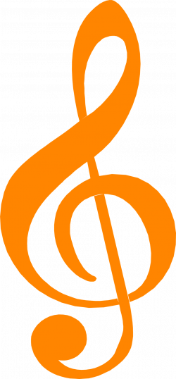 Treble Clef | Free Stock Photo | Illustration of an orange treble ...
