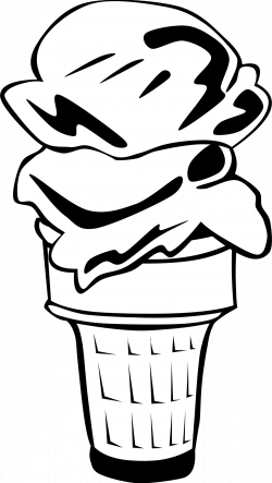 Clipart - Fast Food, Desserts, Ice Cream Cone, Double