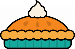 Clipart - Pumpkin Pie With Whipped Cream