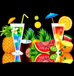 Juice Fruit Watermelon Pineapple - Summer juice 1483*1519 transprent ...