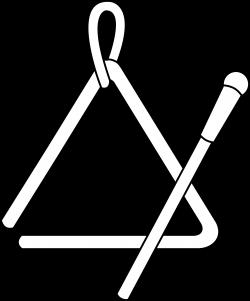 Triangle Instrument Line Art - Free Clip Art