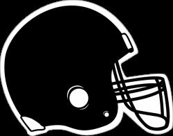 Black Football Helmet Clipart