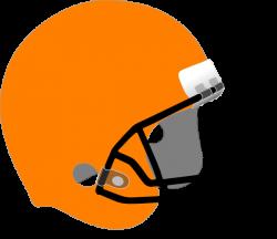 Orange Football Helmet Clipart