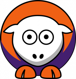 Sheep - Clemson Tigers - Team Colors - College Football Clip Art at ...