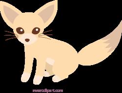 Fox clipart fennec fox - Pencil and in color fox clipart fennec fox