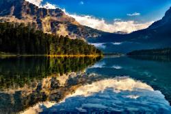 Clipart - Surreal Canadian Lake
