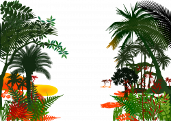 Jungle Royalty-free Clip art - forest,Poster Background,Rainforest ...