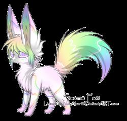 OPEN ~ Rainbow Fennec Fox Adoptable :. by CuteKoi2903 on DeviantArt