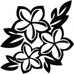 Spring Flowers Clipart Black And White | Free download best Spring ...