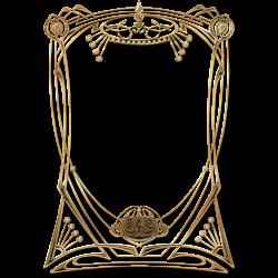 Art Deco Golden Frame transparent PNG - StickPNG