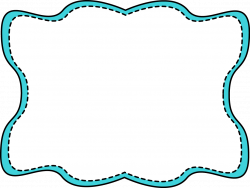 free clip art for teachers | Blue Wavy Stitched Frame - blue and ...