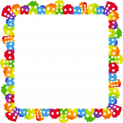 Clipart - Colorful Houses Frame 3