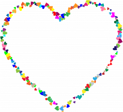 Clipart - Colorful Hearts Frame