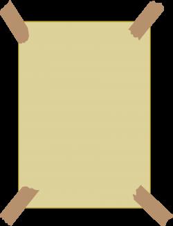 Clipart - masking tape frame