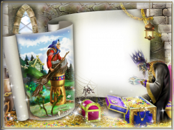 Transparent Kids Fairy Tale World Riding Hag PNG Photo Frame ...
