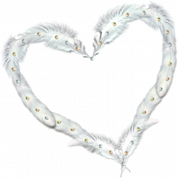 Transparent Heart Frame with Feathers and Diamonds | Gallery ...