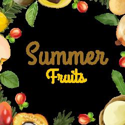 Summer Fruits Floral Frame, Summer Fruits, Fruits Frame, Floral ...