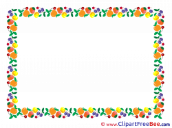 Fruits Clipart Frames free Images