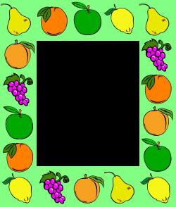 Clipart - Fruit frame 2