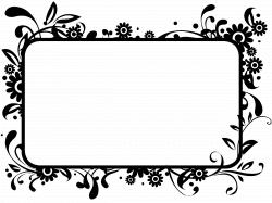 Free Black And White Flower Border, Download Free Clip Art, Free ...