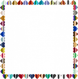 Clipart - Prismatic Hearts Frame 5