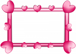Frame Hearts | Free Stock Photo | A blank frame border with pink ...