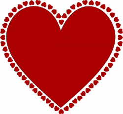 Clipart - Frame of hearts