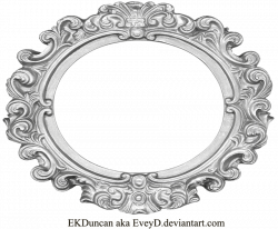 Ornate Silver Frame - Wide Oval by EveyD.deviantart.com on ...