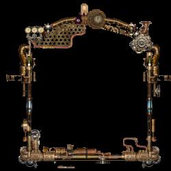 Steampunk Picture frame DeviantArt Clip art - Watch Creative 800*800 ...