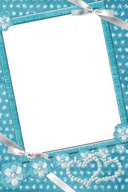Blue_Transparent_Frame_with_Flowers_and_Pearls.png   Weddings ...