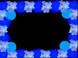 blue flower frame by 1lovedemilovato on DeviantArt