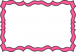 Pink Squiggly Frame - Free Clip Art Frames