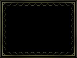 black border png | Shiny Black artistic loop Rectangular Powerpoint ...