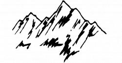 Mountain Black And White Free | jokingart.com Mountain Clipart
