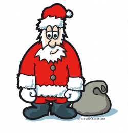 Free Santa Claus clipart, cartoon style