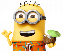 Minion on Holiday transparent PNG - StickPNG