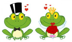 Wedding Clipart Image Boy Frog And Girl Frog Frogs In Love ...