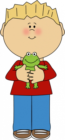 Boy Holding a Frog | colorful clipart | Clip art, Boys, Cute ...