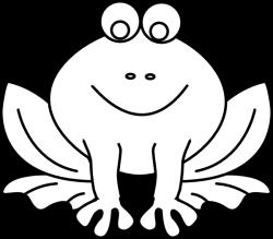 Frog Outline Clipart - ClipartBlack.com