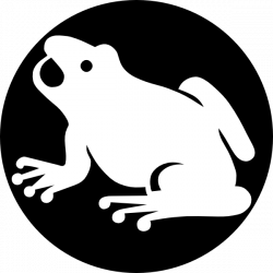 White Frog Silhouette With Black Background Clip Art at Clker.com ...