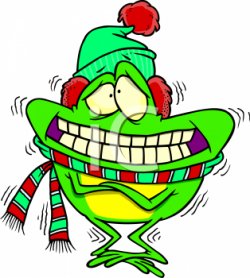 Cartoon Clipart Picture Of A Freezing Frog - AnimalClipart.net
