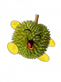 Durian clipart buah - Pencil and in color durian clipart buah